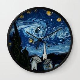 Tardis Starynight Wall Clock
