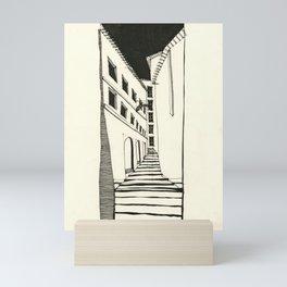 Narrow Passage: Ink Drawing Mini Art Print