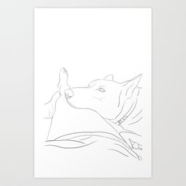 What do you think about, when you think about things? Art Print