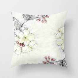 Pequi Flower Throw Pillow