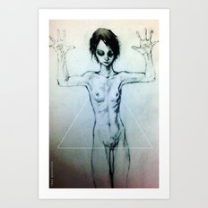 Presentation (the Girl o2) Art Print