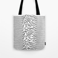 joy division Tote Bags featuring Joy Division - Chinese by hunnydoll