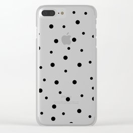 Seamless Black Dots Pattern Clear iPhone Case