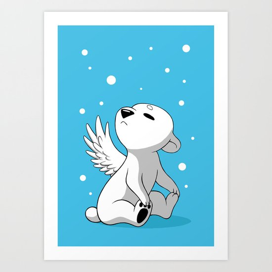 Polar Cub 2 Art Print