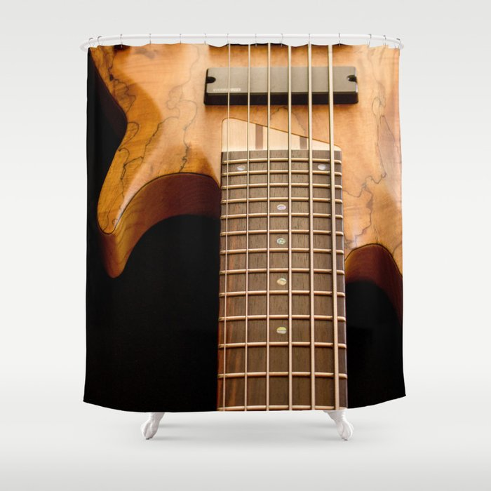 Music is a Moral Law ~ Bass Guitar Shower Curtain by nancyjcreates ...