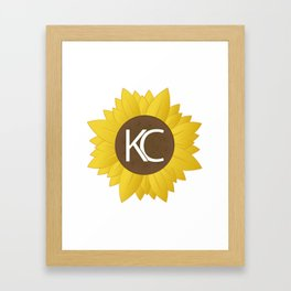 Sunflower KC Framed Art Print