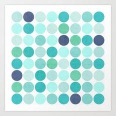 the blue dots Art Print