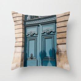 Paris Doors VI Throw Pillow