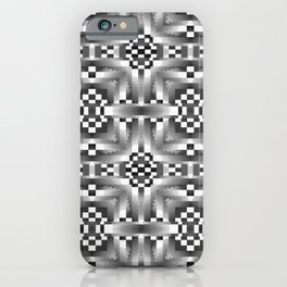 Indian Blanket Gray iPhone Case