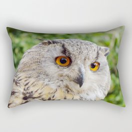 Eagle Owl with glowing eyes Rectangular Pillow