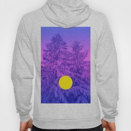 Winter Delight with Fir Trees Hoody