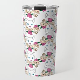 Catlady Print Travel Mug