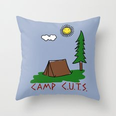 Camp C.U.T.S. Throw Pillow