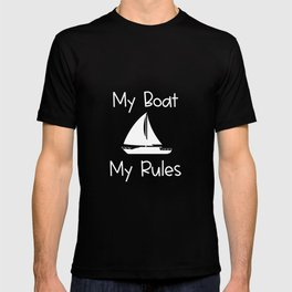 My Boat My Rules Lake and Ocean Travel T-shirt