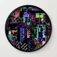 castlevania Wall Clocks featuring Glitchy by ChadXilla