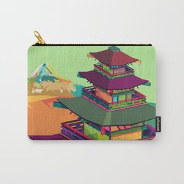 Kyoto Temple, Japan Pop Art Carry-All Pouch