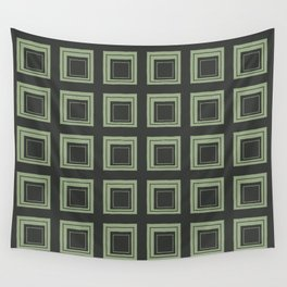 Green Squares Wall Tapestry