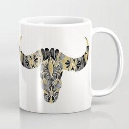 Water Buffalo Skull – Black & Gold Palette Coffee Mug