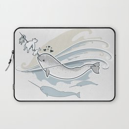 The Friendly Narwhal Laptop Sleeve