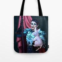cassandra jean Tote Bags featuring Cassandra and Schmooples by enosay