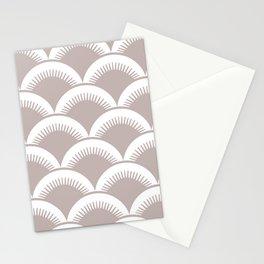 Japanese Fan Pattern Beige Stationery Cards