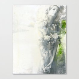 Goddess in White Canvas Print