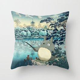 Japanese woodblock mashup Throw Pillow