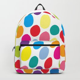 Colour Spots White Backpack