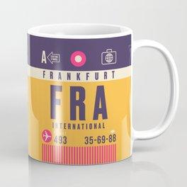 Retro Airline Luggage Tag - FRA Frankfurt Coffee Mug