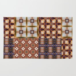 Warm Square Designs Rug