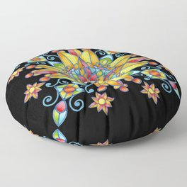 Alhambra Stained Glass Floor Pillow