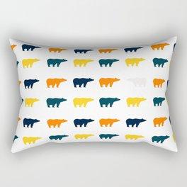 Bear Prints Rectangular Pillow
