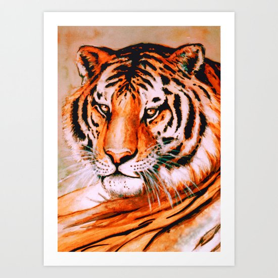 Tiger at rest Art Print