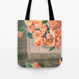 Rosas naranjas Tote Bag