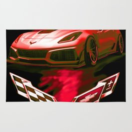 The Fire Speed - USA Supercar Rug