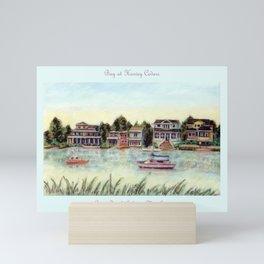 Bay at Harvey Cedars, Long Beach Island, New Jersey, Jersey Shore, fishing boats, Mini Art Print