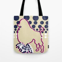 disco Tote Bags featuring disco by Wyldbloom