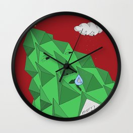 christmas pine Wall Clock