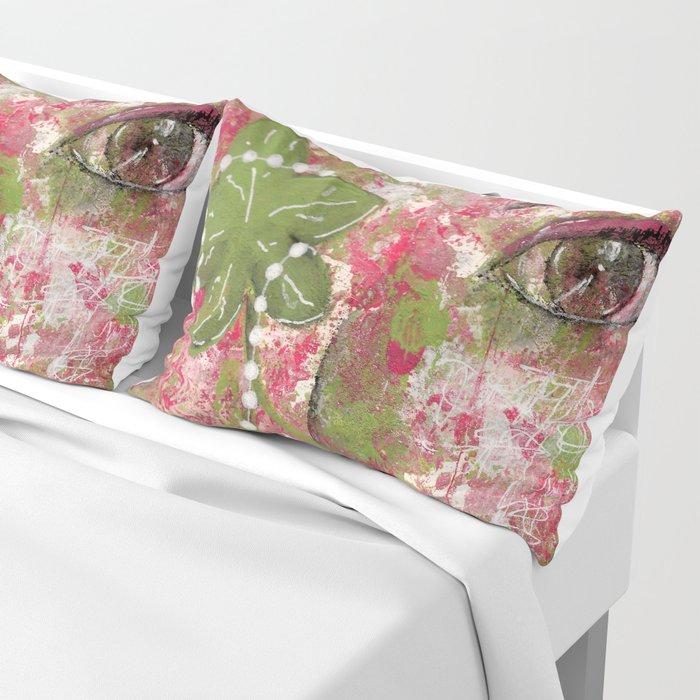 Come Thru Pink and Green Pillow Sham