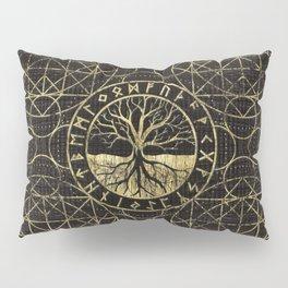 Tree of life  -Yggdrasil and  Runes Pillow Sham