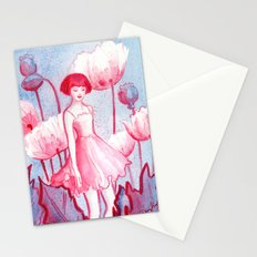 Pink Poppy Stationery Cards