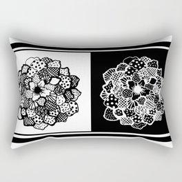 B&W FLORAL Rectangular Pillow