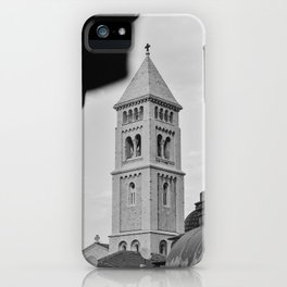A small tower in the old city of Jerusalem, Israel | Black and white photography | Fine art print iPhone Case