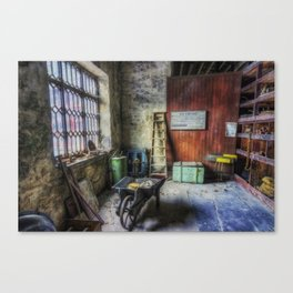 Olde Victorian Slate Workshop Canvas Print