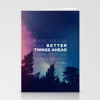 "pocketfuel Stationery Cards featuring CS Lewis ""Better Things Ahead"" by Pocket Fuel"