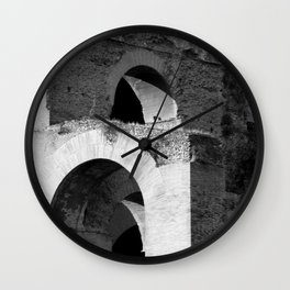 Arches Palatine Hill Rome Wall Clock