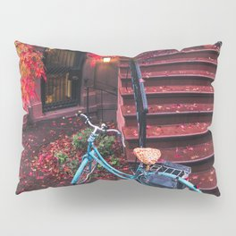 New York City Brooklyn Bicycle and Autumn Foliage Pillow Sham