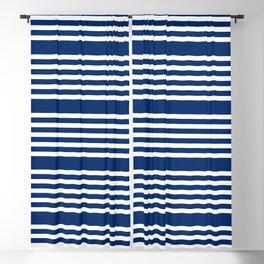 White Stripes Blackout Curtain