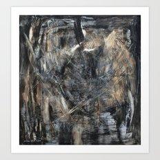 Schooling de Kooning (oil on canvas) Art Print