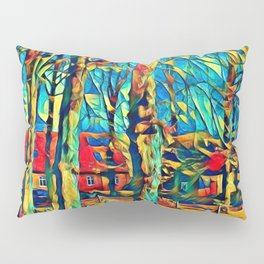 Country house in Art Pillow Sham